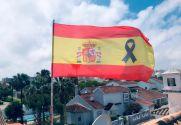 Bandeira de Bandera España Crespón Negro